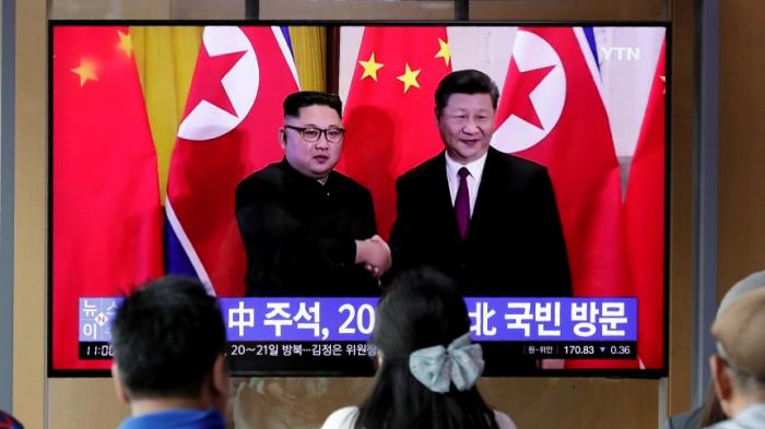 Chinas Machthaber in Nordkorea eingetroffen