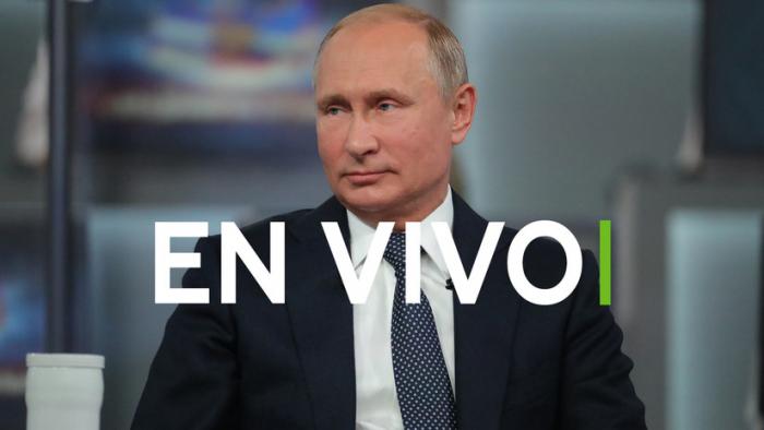 EN VIVO  : Vladímir Putin responde a las preguntas de los ciudadanos rusos en