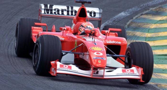 Ein letztes Mal auf der Rennstrecke: Schumachers Rekord-Ferrari wird versteigert
