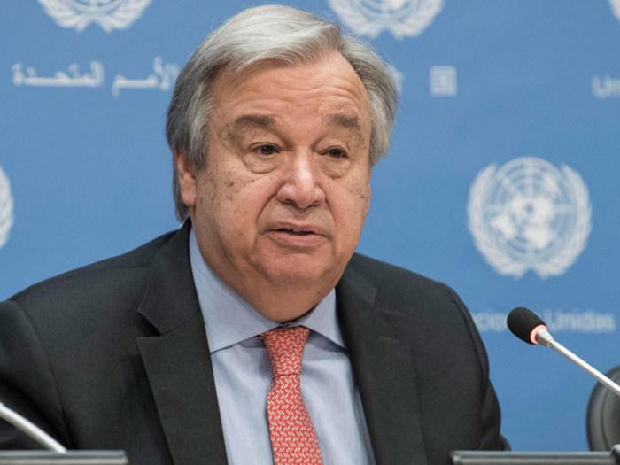 U.N. chief Guterres calls for