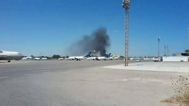 Tripoli airport suspends flights after rocket fire