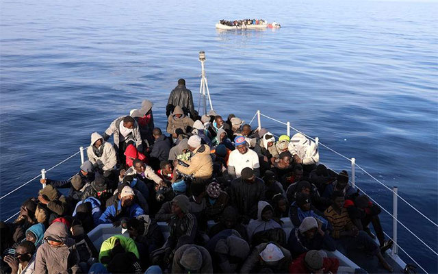 Libyan navy says rescues 199 migrants off western coast
