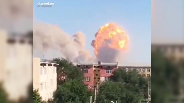 Munitions depot blasts prompt evacuation of Kazakh town -  VIDEO