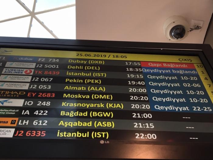 Bakıdan Dehliyə müntəzəm uçuşlar başladı