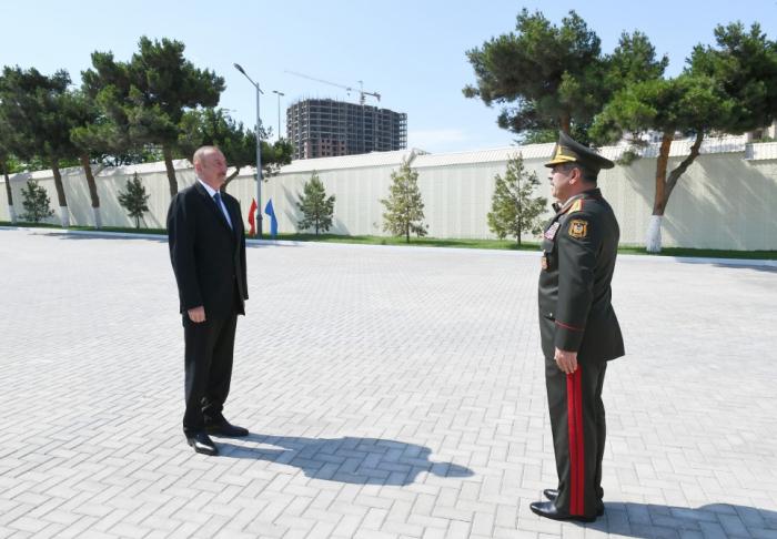 Le président Ilham Aliyev a inspecté les conditions créées au Lycée militaire Djamchid Nakhtchivanski - Photos