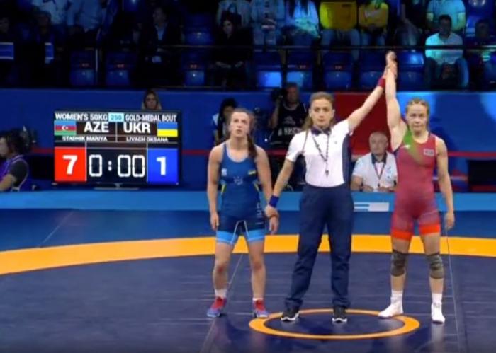 Stadnik Azərbaycana 3-cü qızıl medalı qazandırdı