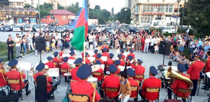 Bakıda hərbi orkestrlərin çıxışları təşkil olunub