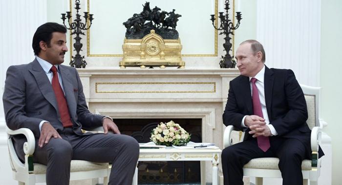 بوتين يلتقي أمير قطر ويقدم اقتراحا