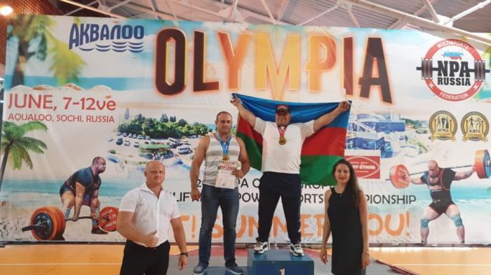 Azerbaijani powerlifter defeats Armenian rival to claim European tittle