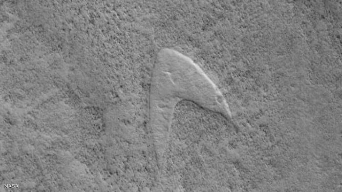 """ناسا تعثر على شعار """" ستار تريك"""".. على المريخ"""