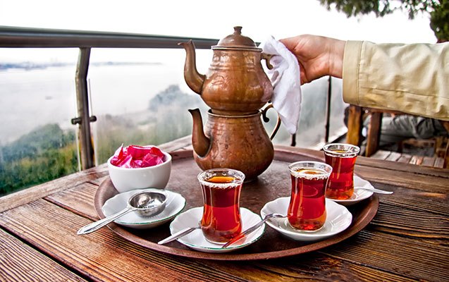 The people of Azerbaijan love tea. Here's how they like to drink it