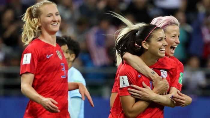 Mondial féminin 2019 :   victoire record des USA contre la Thaïlande :   13-0 !
