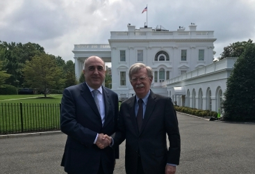 Canciller azerbaiyano aborda el conflicto de Karabaj con John Bolton