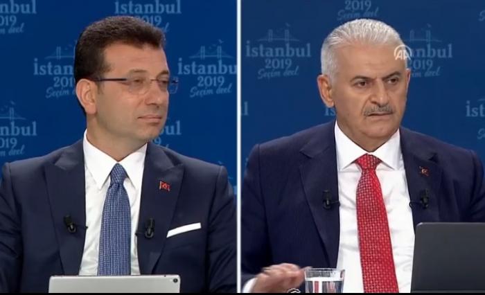 Binəli Yıldırımla Əkrəm İmamoğlunun debatı - VİDEO