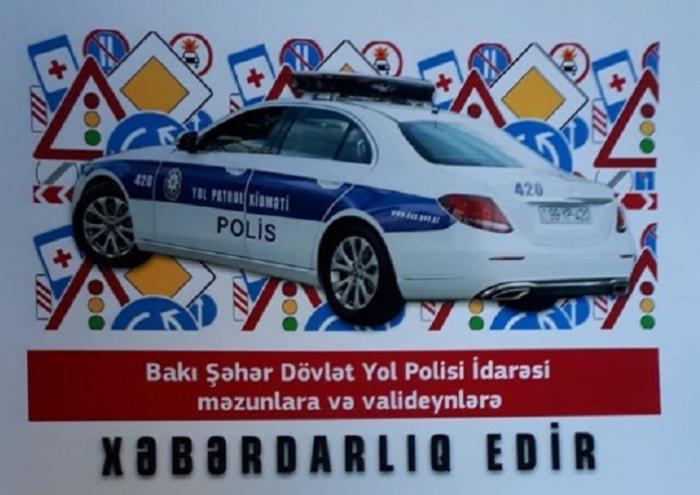 """Yol polisindən """"Son zəng"""" xəbərdarlığı - FOTO"""