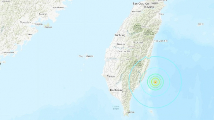 Un sismo de magnitud 5,8 sacude las costas de la isla china de Taiwán