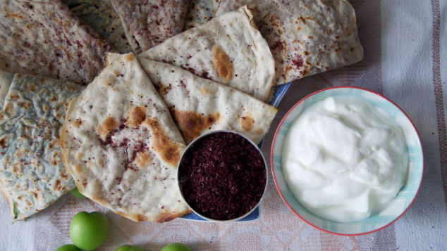 Qutab -- one of the most famous dishes in the country.  Courtesy Kamilla Rzayeva