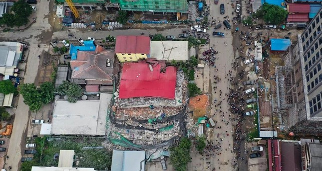 Seven dead, dozens trapped in Cambodia building collapse