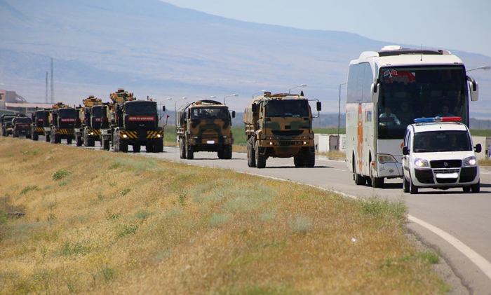 Türkiyənin hərbi texnikaları Naxçıvana gətirildi - FOTO