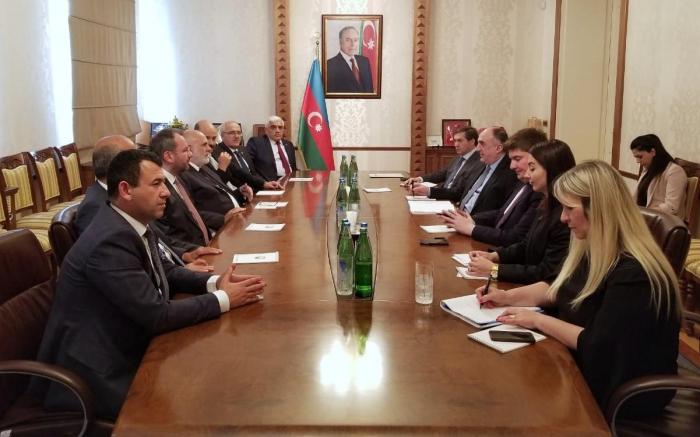 Azerbaijani FM meets delegation led by vice-speaker of Turkish parliament