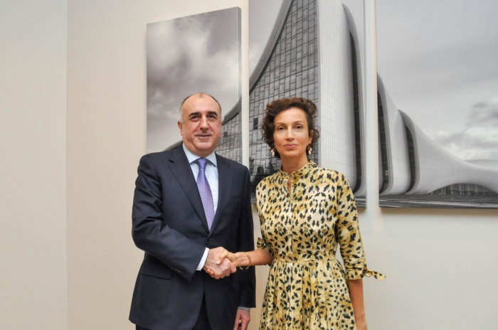 Məmmədyarov UNESKO-nun Baş direktoru ilə görüşüb