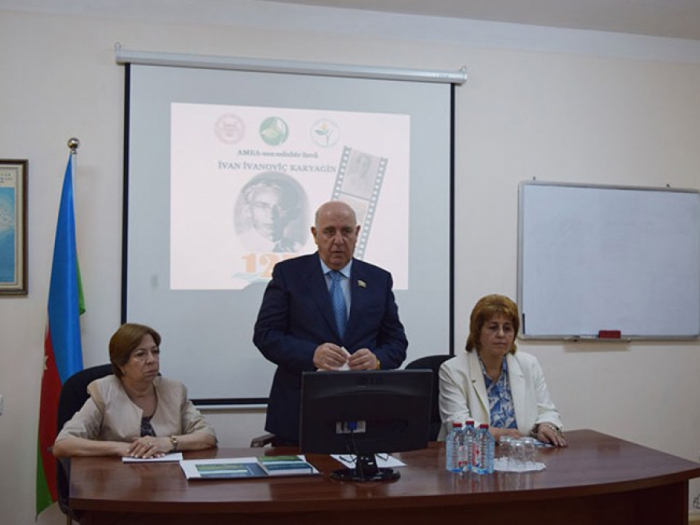 ANAS hosts scientific symposium commemorating Ivan Ivanovich Karyagin