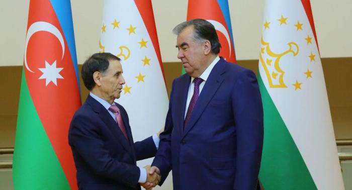 Novruz Məmmədov Tacikistan prezidenti ilə görüşüb