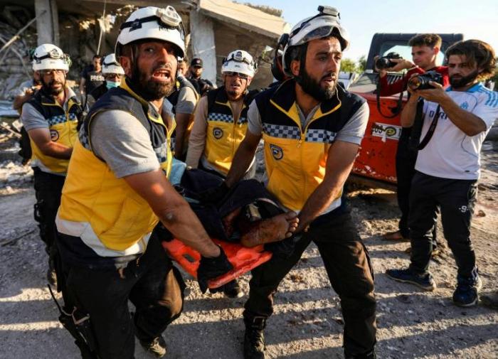 Syrie :   25 morts   dans de nouveaux bombardements du régime dans la région d