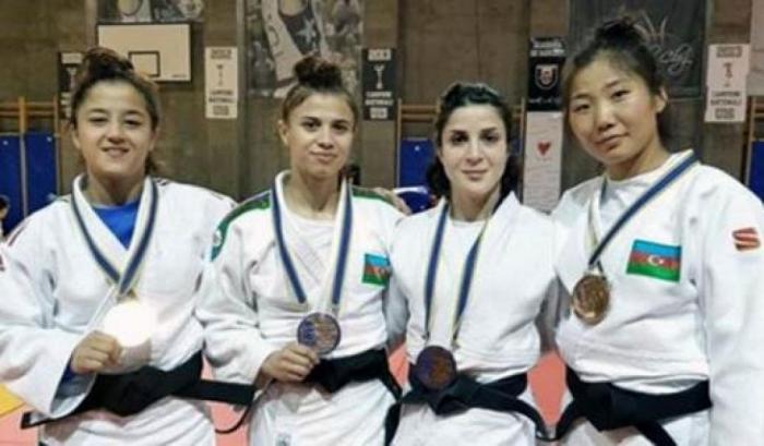 Qadın cüdoçularımız Rumıniyada 4 medal qazanıb
