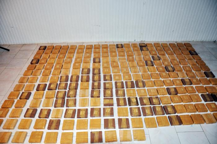 Avropaya aparılan 129 kq heroin Biləsuvarda tapıldı - FOTOLAR