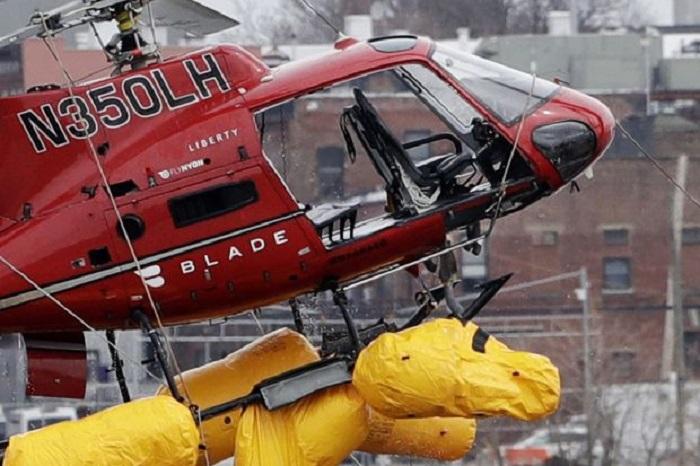 ABŞ-da helikopter binaya çırpılıb - VİDEO