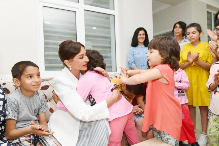 First Vice-President of Azerbaijan Mehriban Aliyeva attends opening of new building of children