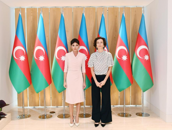First Vice-President Mehriban Aliyeva meets with Director-General of UNESCO Audrey Azoulay