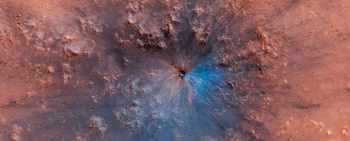 Astronomers have spotted a new crater on Mars that