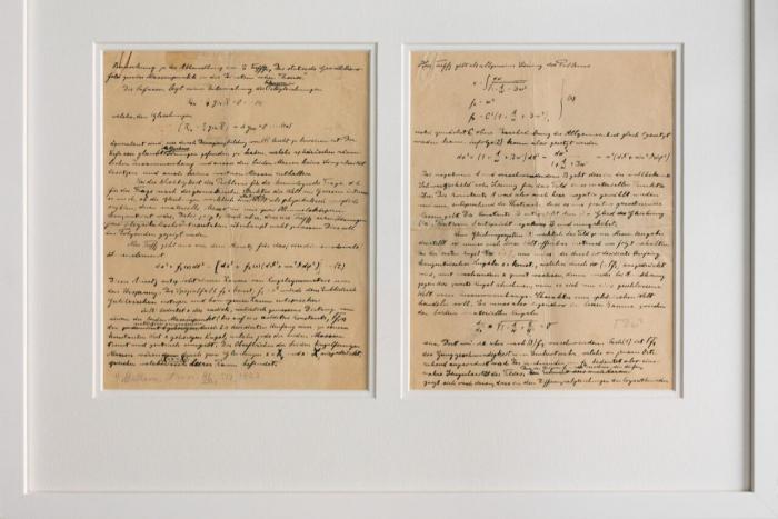 Nobelmuseum erhält handschriftliches Manuskript von Albert Einstein