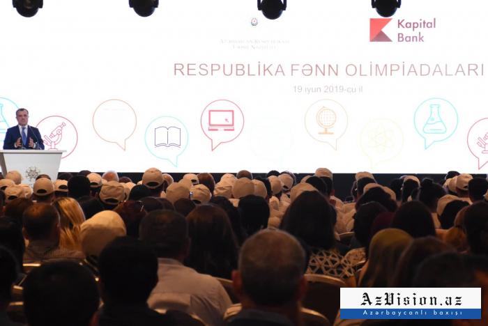 Olimpiada qalibləri mükafatlandırıldı - FOTOLAR