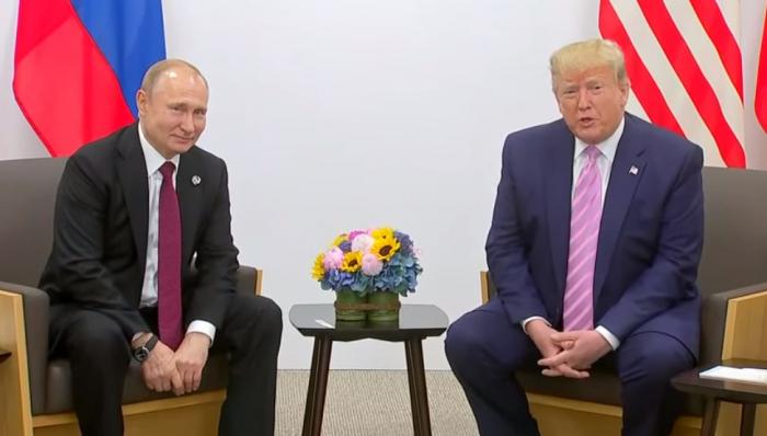 Putinlə Trampın görüşü başa çatdı - VİDEO (Yenilənib)