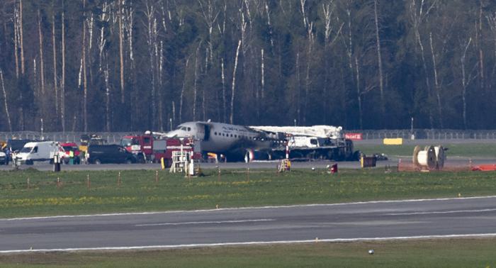 Crashed SSJ100