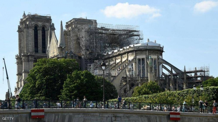 """كاتدرائية نوتردام تعلن موعد أول قداس بعد """"كارثة الحريق"""""""
