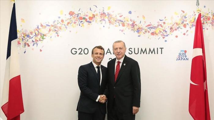 Sommet des Leaders du G20: réunion Erdogan-Macron