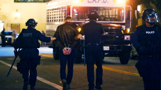 Armed man shot by officers after hours-long barricade in Los Angeles