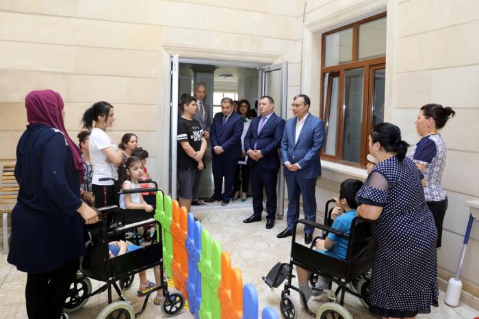 Nazir reabilitasiya xidmətlərinə baxış keçirib - Fotolar