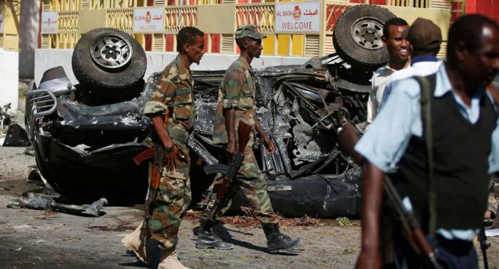 Violente explosion et fusillade à Mogadiscio en Somalie