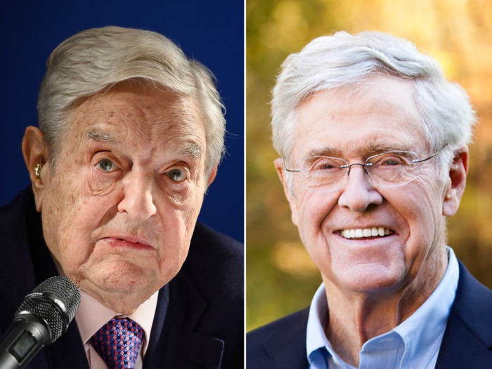 George Soros and Charles Koch to fund new