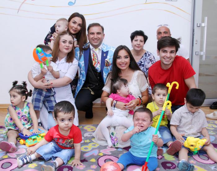Leyla Aliyeva meets residents of children's home No1
