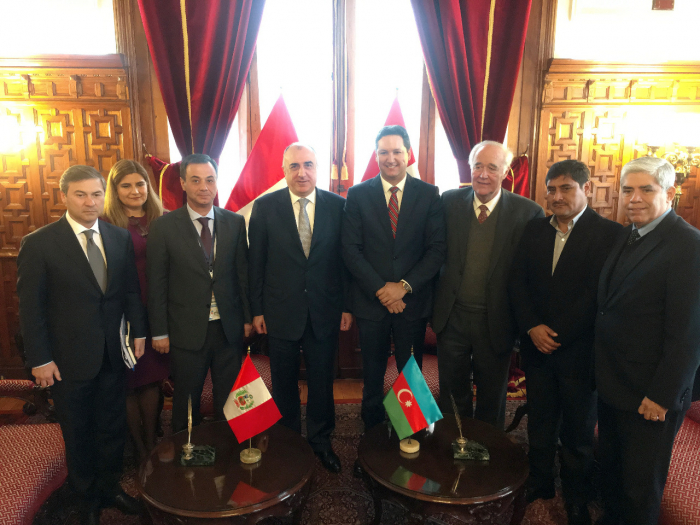 FM Mammadyarov meets president of Peruvian Congress