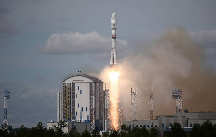 Carrier rocket Soyuz-2.1b with satellite Meteor-M launched from Vostochny Cosmodrome