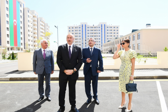 President Ilham Aliyev inaugurates new residential complex for IDPs - PHOTOS