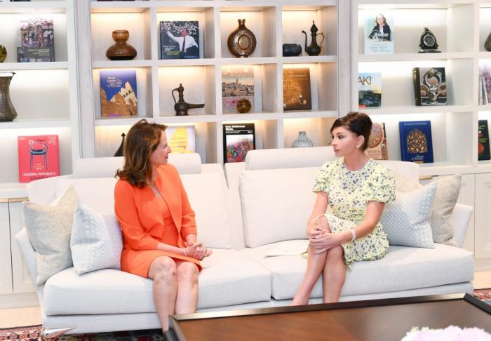 First VP Mehriban Aliyeva meets French ambassador for Arctic and Antarctic Poles