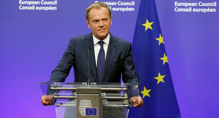 European Council President Tusk arrives in Azerbaijan